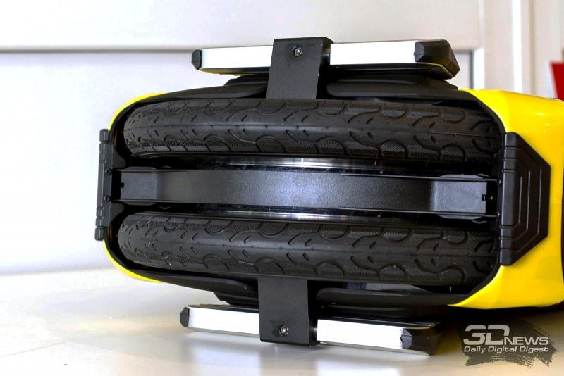 14-дюймовые колеса и съемные бамперы-отбойники