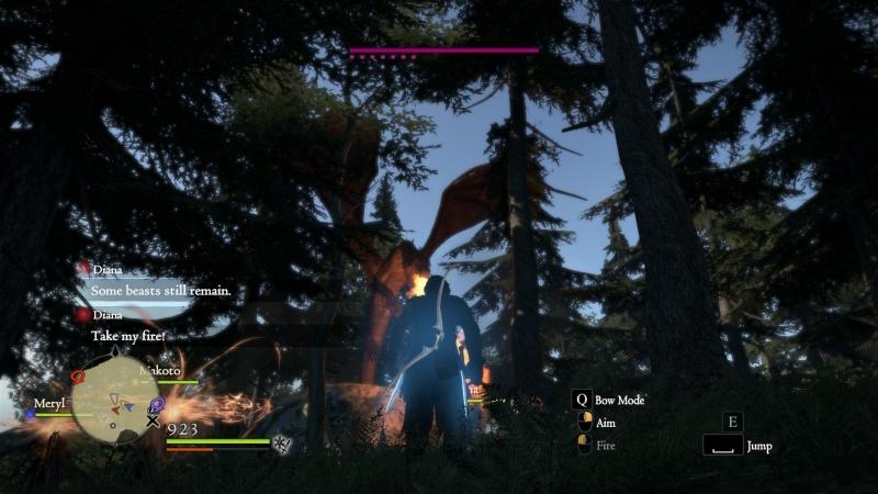 Если нарветесь на дракона на начальном этапе игры, лучше бегите. Сверкать пятками — не позорно
