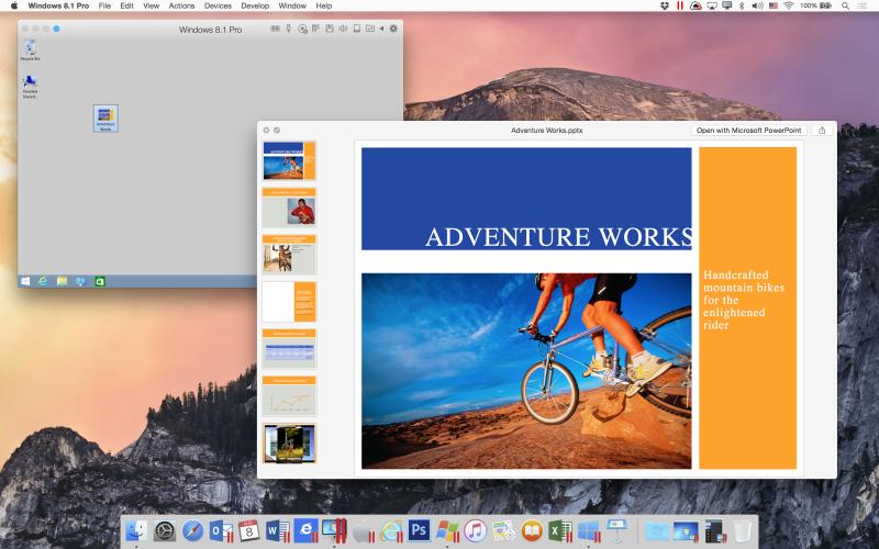 Просмотр документа Windows с помощью QuickLook