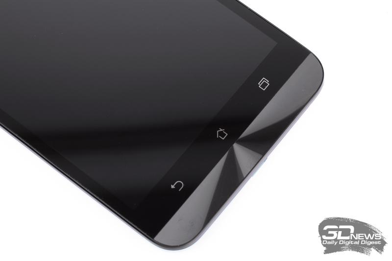 ASUS Zenfone Selfie – клавиши в нижней части