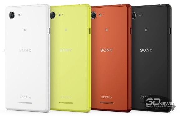 Sony Xperia E3 – доступные цветовые решения