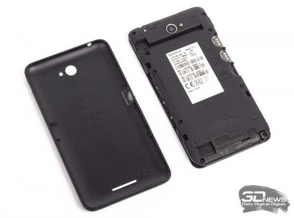 Sony Xperia E4 Dual без задней крышки