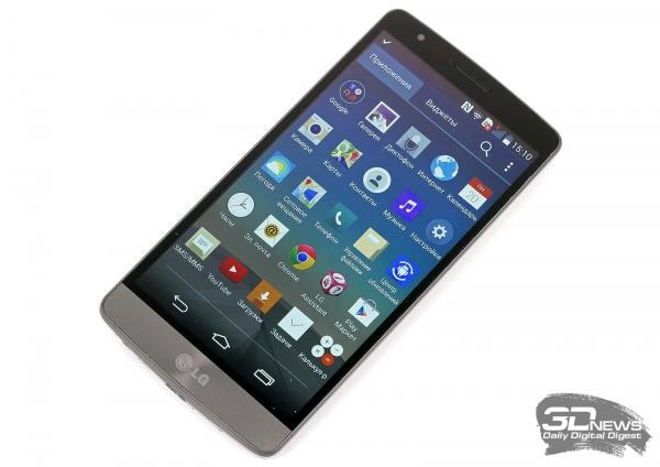 LG G3s LTE со включенным экраном