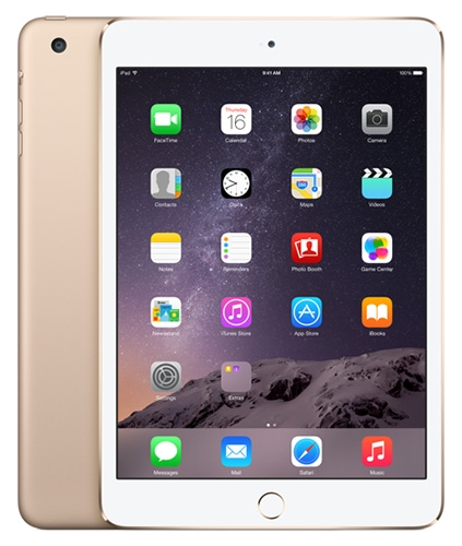 Apple iPad mini 3 в золотистом цвете – официальное фото