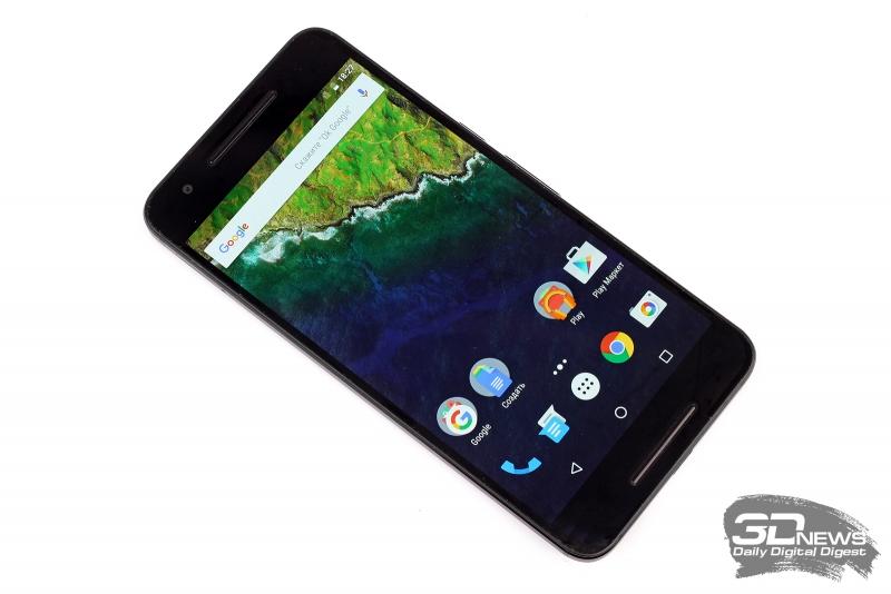 Huawei/Google Nexus 6P со включенным экраном
