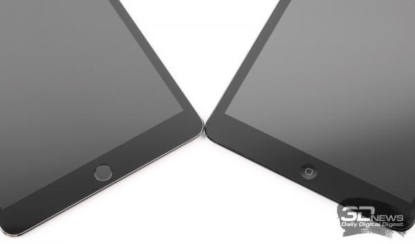 Кнопка Home у iPad mini 3 (слева) и первого iPad mini (справа)
