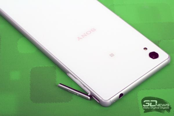 Sony Xperia M4 Aqua Dual – боковые торцы