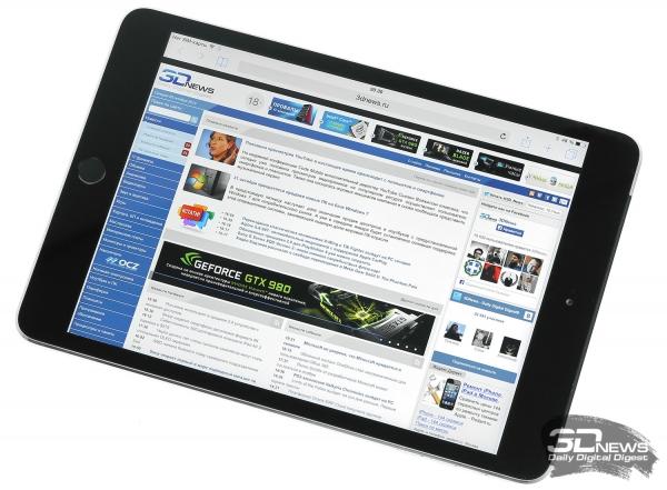 WEB-сайты и электронные документы на экране iPad mini 2/3 просматривать очень и очень удобно