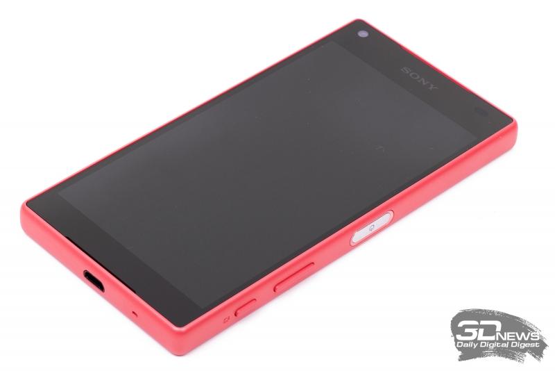 Sony Xperia Z5 Compact – лицевая панель