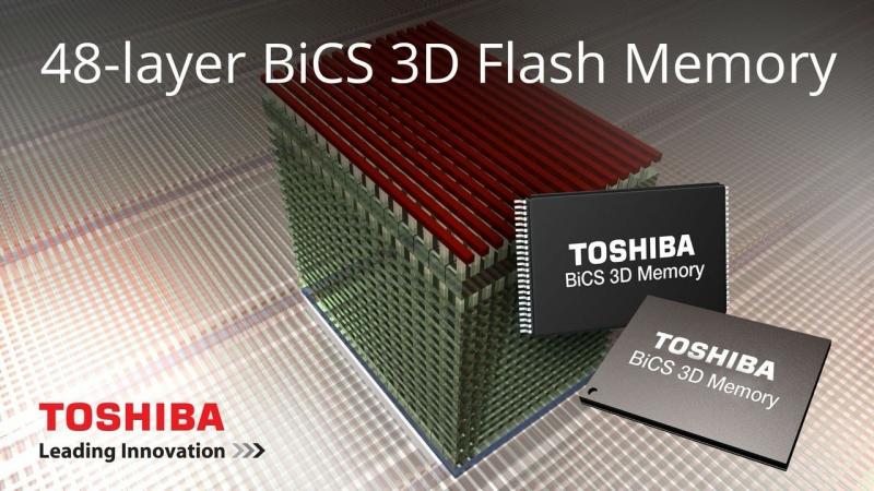 Toshiba MLC 3D NAND первого поколения: 128-Гбит и 48 слоёв