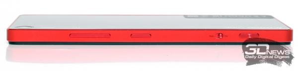 Lenovo Vibe Shot – боковой торец
