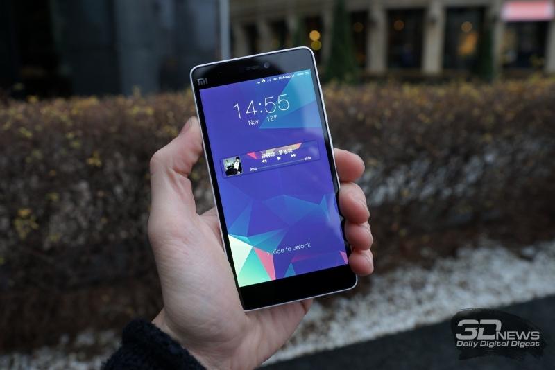 Xiaomi Mi 4i, вид спереди