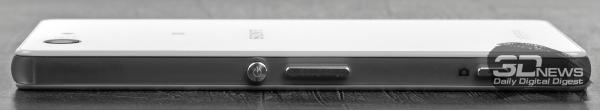 Sony Xperia Z3 Compact – правый торец