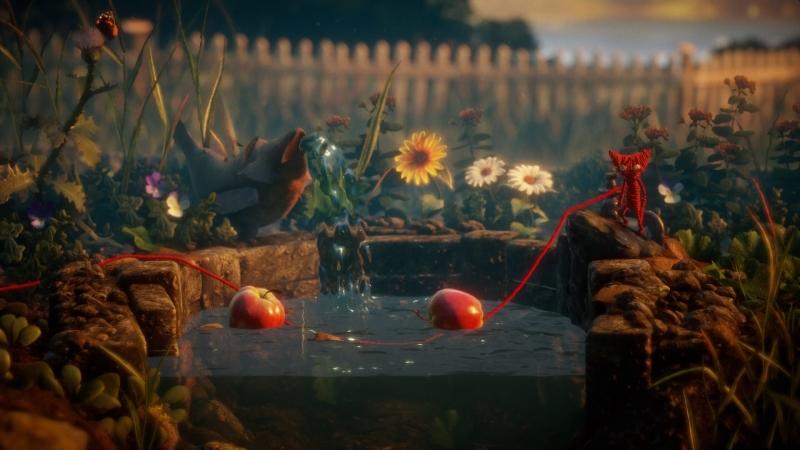 Сделайте мостик из яблок, чтобы малыш не утонул