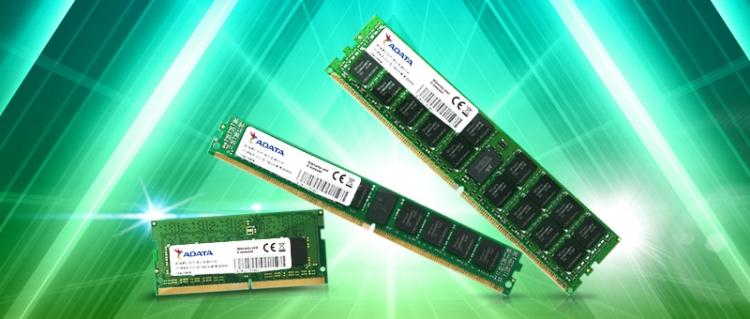 Модули памяти DDR4 производства Adata
