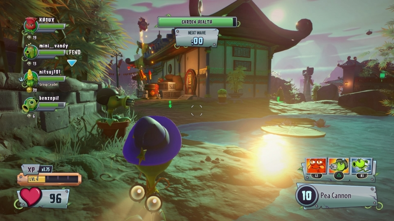 Отбиваясь от волн противников, очень важно расставить оборонительные растения и роботов-зомби