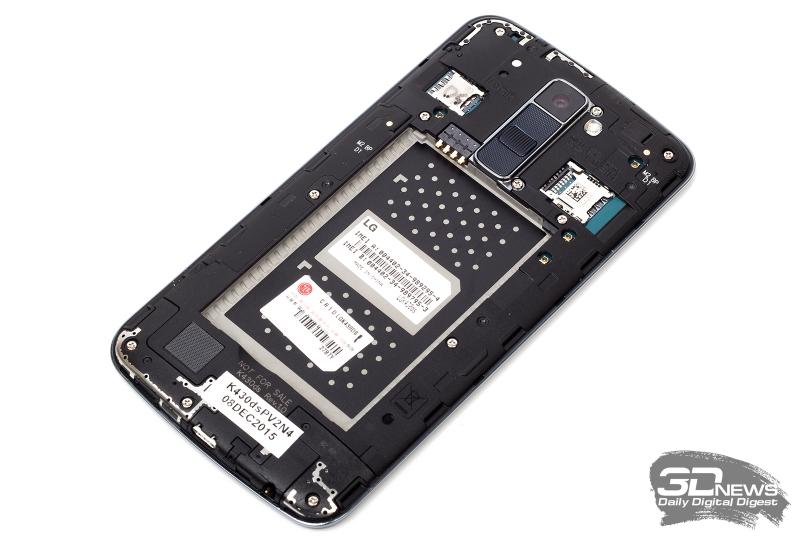 LG K10 LTE без задней крышки