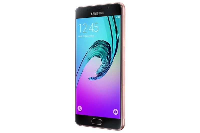 Samsung Galaxy A5 (2016) в розовом цвете – официальное фото; также для новинок будет доступен белый, черный и золотой цвет