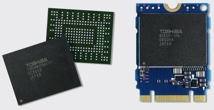 BGA SSD разработки Toshiba