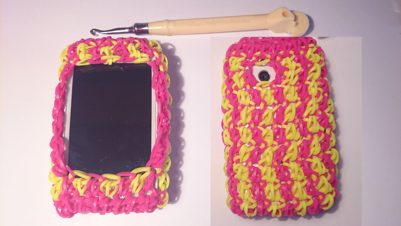 Чехол для телефона своими руками из резинок на крючке