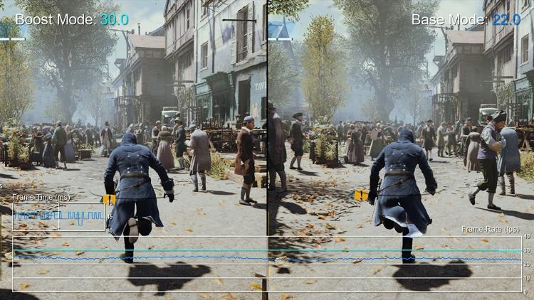 Boost-режим в тяжёлых сценах Assassin's Creed Unity