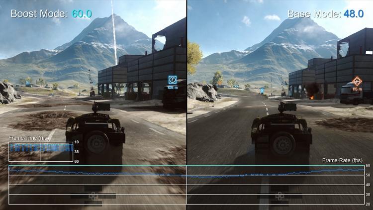 Boost-режим в тяжёлых сценах Battlefield 4
