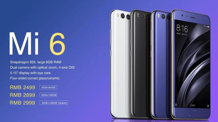 Дебют мощного смартфона Xiaomi Mi 6: чип Snapdragon 835 и сдвоенная камера