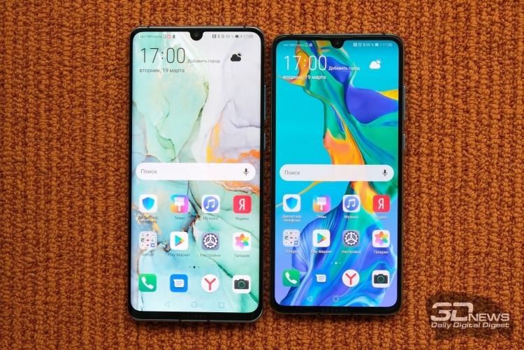Новые смартфоны Huawei P30 и P30 Pro